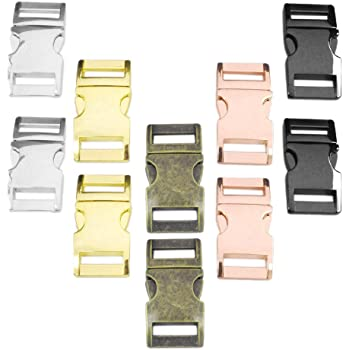 Colour: Stone Size M/ Set of 3/5//8/Buckle//Clip Clasp Very Well Made, Durable Alloy for Paracord Bracelets Metal Buckle Clips 33/mm x 15/mm Cords /Ganzoo