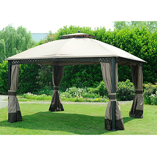 Original Replacement Canopy for Domed Gazebo (10X12 Ft) L-GZ717PST-C Sold at Rona, Khaki - Sunjoy 110109150