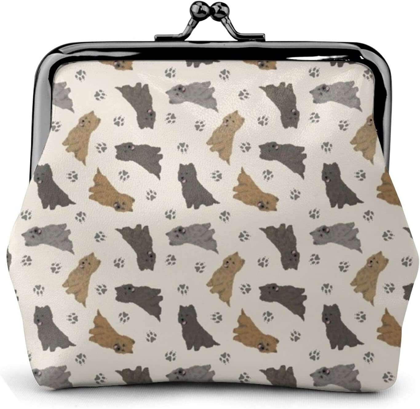 Cairn Terriers Tan 1376 Coin Purse Retro Money Pouch with Kiss-lock Buckle Small Wallet for Women and Girls