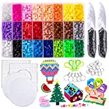 Fuse Beads Kit, Perler Beads Kit, 24 Bright Colors 7800 Beads Craft Set