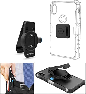 LOVPHONE Phone Belt Clip for iPhone 11,11 Pro,11 Pro Max,X, XS, XS Max, XR, 8,8 Plus,7,7 Plus, 6, 6s Plus, 5s, 5c, se and Samsung Galaxy Note 8,S8 S7 S6 Edge, LG or Any Phone