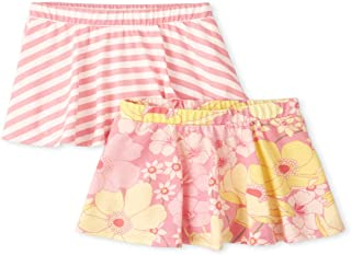 The Children's Place Baby Girls' Skorts, Pack of Two, CHERRY BLOSSOM, 12-18MOS