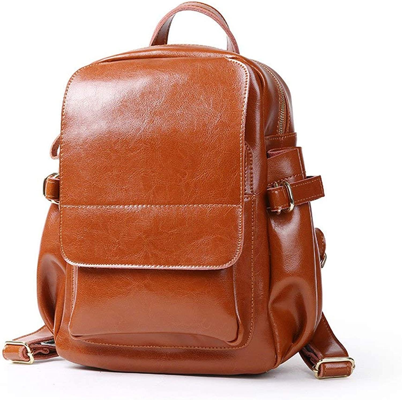 Hulday Damen Rucksackhandtaschen Rucksack Taschen Damen Mnner Handgepaeck Jungen Mode Vintage Einfacher Stil Casual Stil Schulruckscke, (Farbe   Braun, Größe   One Größe)