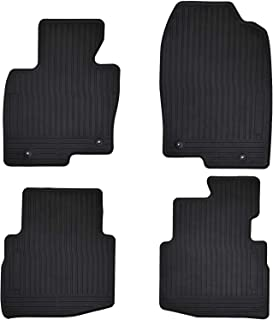 Megiteller Car Floor Mats Custom Fit for Mazda CX-9 CX 9 2016 2017 2018 2019 2020 2021 Odorless Washable Heavy Duty Rubber (All Weather) Floor Liners Front and Rear Row Set Black