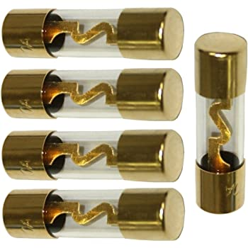 Mintice 5 X 80a Agu Sicherung Auto Automotive Audio Power Sicherheit Schützen Glasrohr Vergoldet Schutz Auto