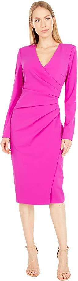 Long Sleeve Shirred Day Dress