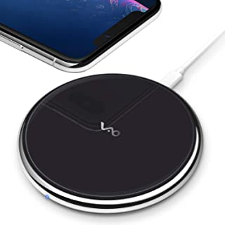 Vebach Fast Wireless Charger, Qi Certified Dubhe1 Wireless Charging Pad 7.5W Compatible with iPhone 11/11 Pro/11 Pro max/Xs/Xs Max/Xr/X/8/8Plus, 10W for Samsung Galaxy S10/S10 Plus/S10E/S9