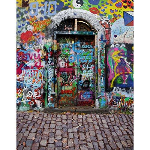 Meer 5x7ft Vinyl Digitale Graffiti Verf Gebaren Deur Fotografie Studio Achtergrond