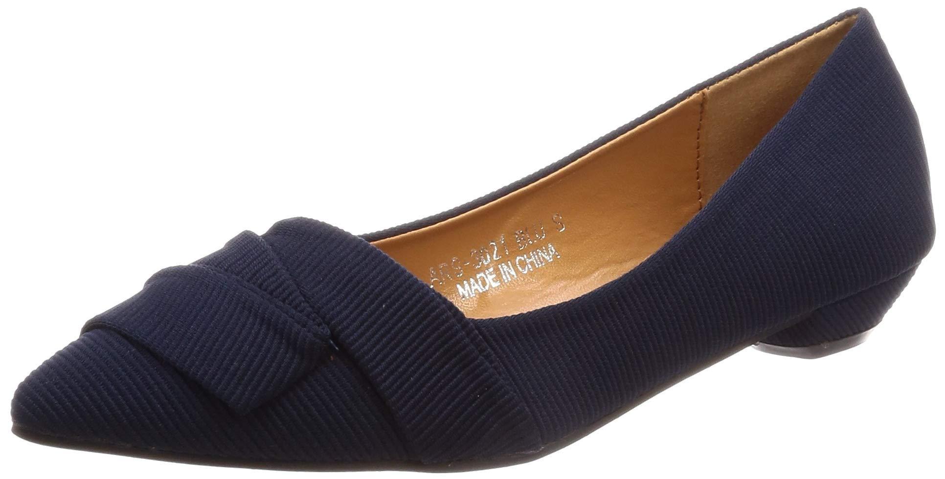 [Am EMS]スニーカー女性の尖ったスレッド素材美しいファッション靴女性の黒と赤ベージュ*ブルー4色23.0〜23.5 cm
