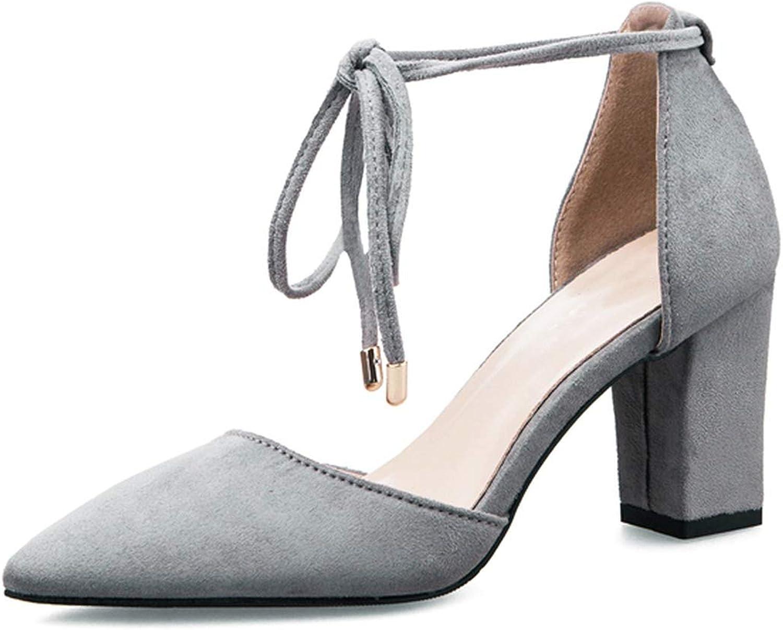 Women High Heel Sandals shoes Ankle-Strap Square Heels Pumps Sandals Ladies Summer Casual shoes