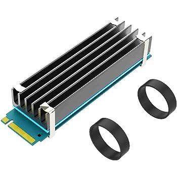 GLOTRENDS M.2 NVMe SSD ヒートシンク 2280 M.2 SSD用 (22x70x10 サイズ)