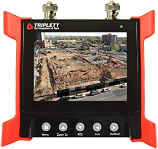 """Triplett CamView Elite Portable Video Test Monitor for Security Cameras with 12V -1 Amp Output - Bright HQ 3½ """" LCD Screen..."""