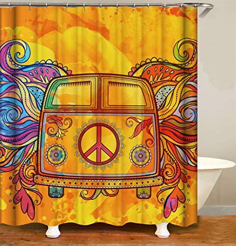 ZZZdz vele patronen. Schmink een auto. Met gekleurde vleugels. Douchegordijn. Waterdicht. Eenvoudig te reinigen. 180 x 180 cm.