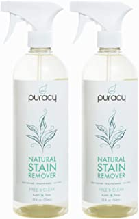 Puracy Natural Laundry Stain Remover, Enzyme Odor Eliminator, Free & Clear, 25 Ounce (2-Pack)