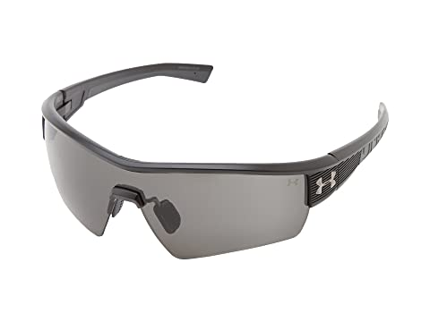 Under Armour UA Fire Satin Black Frame w/ Charcoal Gray Rubber/Gray Lens Running Sunglasses 8319011