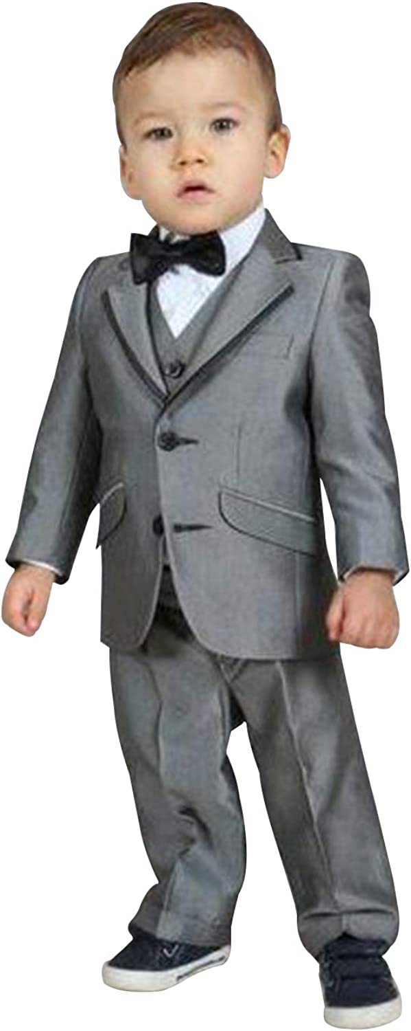 P&G Boys' Suit Three Pieces Two Buttons Wedding School Casual Tuxedos