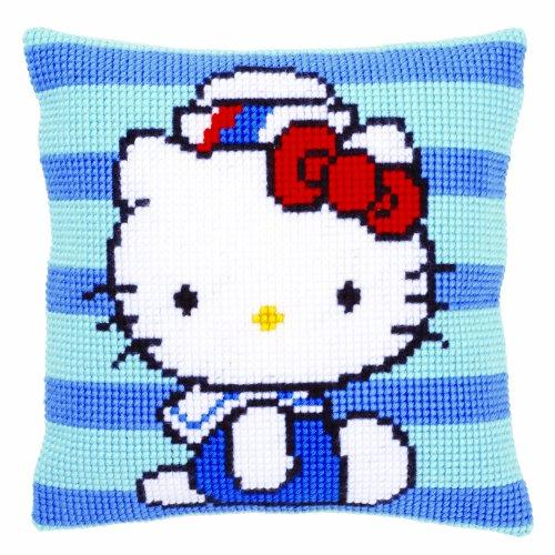 Vervaco - Kit para Hacer cojín de Punto de Cruz, diseño de Hello Kitty