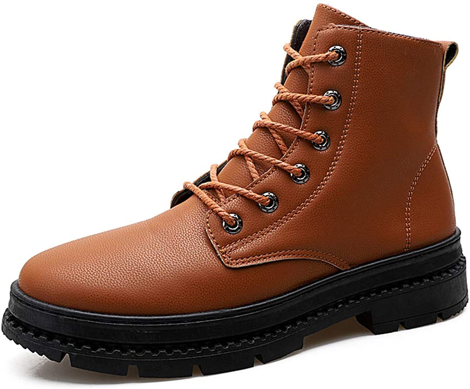 Men's Martin Boots High-Top Casual shoes Lace Up Outdoor Hiking shoes Cycling shoes Fashion Daily Walking shoes bluee Black Brown,Brown,41