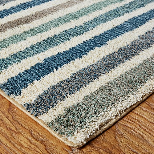 Mohawk Home Blue Boardwalk Stripes Area Rug (8'x10')