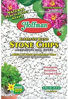 Hoffman 14102 Decorative Soil Covers Alabaster Blend Stone Chips, 2 Quarts