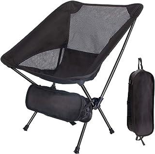 アウトドアチェア キャンプ用品 Linkax コンパクトチェア アルミ合金&軽量 最新1000Dポリエステル生地 耐荷重150kg 専用ケース付き (キャンプ椅子)