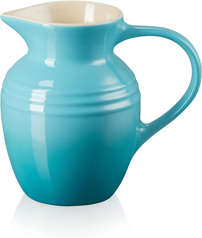 Le Creuset Jarra de desayuno de cerámica de gres, 600 ml, 550 g, Azul Teal
