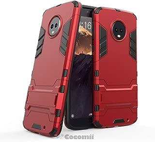 Cocomii Iron Man Armor Motorola Moto G6 Plus Funda Nuevo [Robusto] Superior Táctico Sujeción Soporte Antichoque Caja [Militar Defensor] Cuerpo Completo Sólido Case Carcasa for Moto G6 Plus (I.Red)