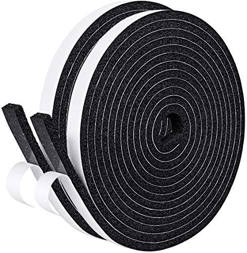 Albelt?隙間テープ 防音テープ 絶縁テープ スポンジ 雨防止 発泡ゴム 防音戸当たり 静音テープ 気密防水パッキン 防音 防水 防虫 緩衝材 衝突防止 10mm (幅) x 5mm (厚さ) x 10m (長さ) x 2本
