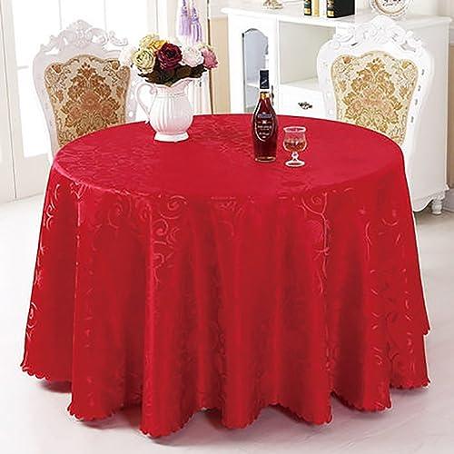al precio mas bajo JIANFEI JIANFEI JIANFEI Mantel rojoondo Manteles Hotel High-End 2 Colors, 11 tamaño Opcional (Color   rojo, Tamaño   3.2m)  edición limitada
