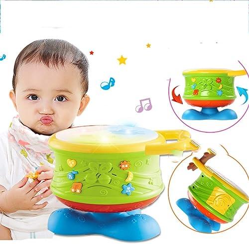LIPENG-TOY Pat Trommel kann aufgeladen Werden 6-12 Monate 0 Puzzle Baby 1 Jahr 3 Handtrommeln Baby Kinder Musik Spielzeug (Stil   B)