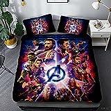 Bate - Funda de edredón Marvel Spiderman, juego de ropa de cama de microfibra, diseño de héroes Spiderman, impresión 3D, para niños y adultos, 140 × 210 cm
