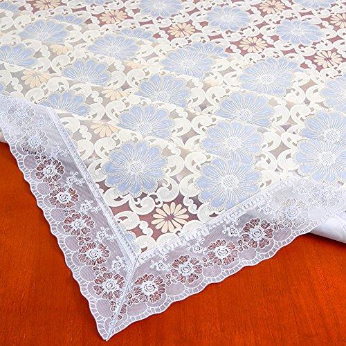 HM&DX PVC Kunststoff Tischdecken Wasserdicht Ölfreie Abwaschbar Schmutzabweisend Floral Tisch-Abdeckung Esszimmer couchtisch Tuch abdecken-F 137x187cm(54x74inch)