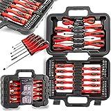 58 vanz shop juego de maletín con destornilladores y puntas juego de herramientas + maletín - rojo y negro juego de