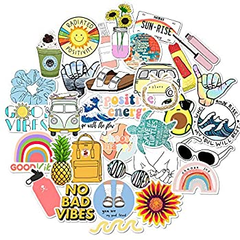VSCO Laptop Stickers Pack for Hydro Flask Water Bottle Stickers Teen Girls Hydroflask Stickers Cute Vinyl Computer Stickers Aesthetic Adults Stuff