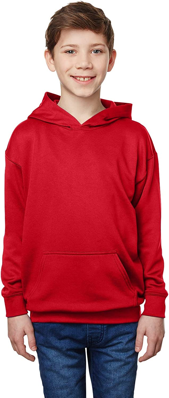 Gildan Youth Performance Tech Hooded Sweatshirt (G995B) -SP Scarlet -XL