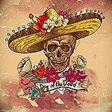 Likayj Kit De Pintura Con Diamantes 5D Flor De Calavera Mexicana Cuadros De Punto De Cruz,Manualidades Para Decoración De La Pared Del Hogar 40x50cm