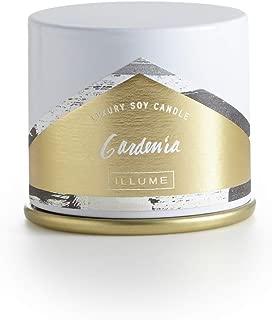 Illume Gardenia Demi Vanity Tin, 3 oz Candle, White