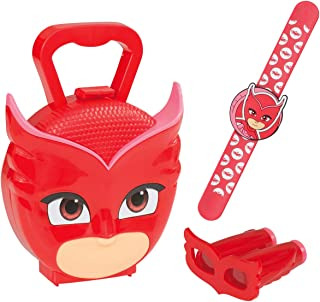 Jamara- Maleta PJ Masks Owlette – Juego de 3 Piezas, Pulsera de búlete para auténticas héroes Pijamas con los prismáticos, maletín de Transporte Estable y manejable, Color Rojo (410107)