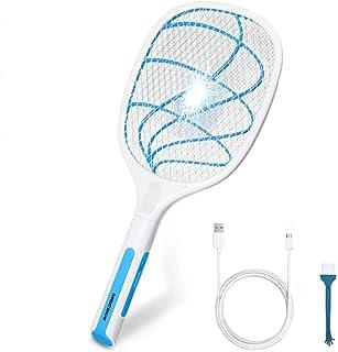 YUMINI Lampe Anti Moustique /Électrique Raquette Anti Moustique Electrique USB RechargeableTapette /à Mouche Electrique Efficace Contre Les Mouches Insectes,lnt/érieur et Ext/érieur