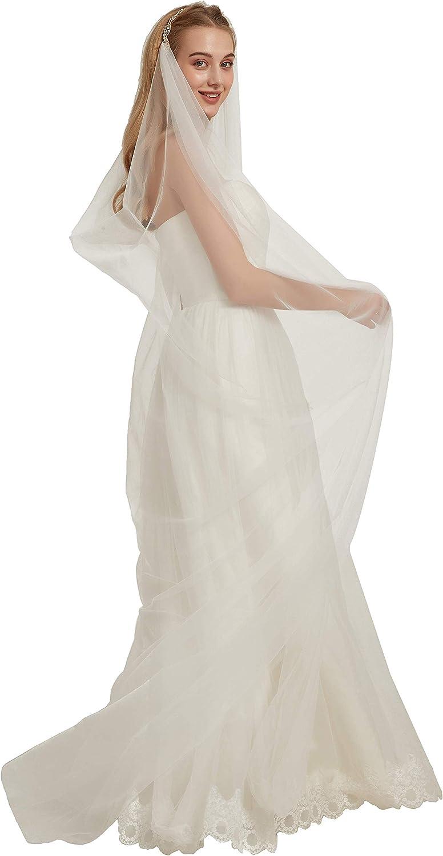 Wedding Veil Headband Bridal Veil with Rhinestones Wedding Veil for Brides B024
