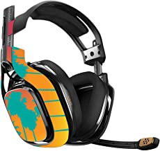 MightySkins Skin Compatible with Astro A40 Gaming Headset - Sherbet Palms   Protective, Durable, and Unique Vinyl Decal wrap Cover   Easy to Apply, Remove, and Change Styles   Made in The USA