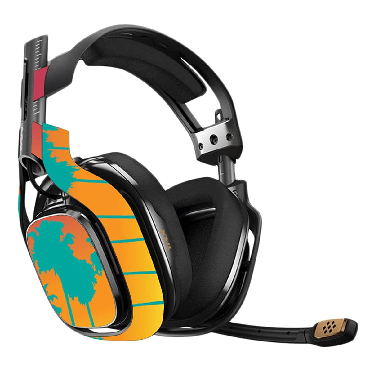 MightySkins Skin Compatible with Astro A40 Gaming Headset - Sherbet Palms | Protective, Durable, and Unique Vinyl Decal wrap Cover | Easy to Apply, Remove, and Change Styles | Made in The USA