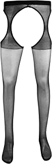 Men's Sexy Hollow Out Tights Suspender Stretchy Pantyhose Stockings