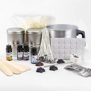 Kit Fabrication Bougie-Kit Bougie à Faire Soi Même Adulte,Kit de Fabrication de Bougies avec Cire de Soja(2.2LB),4 Huile P...