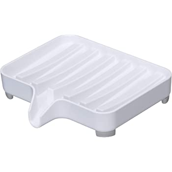 山崎実業 石鹸置き 水が流れる ソープトレー ミスト ホワイト 3249