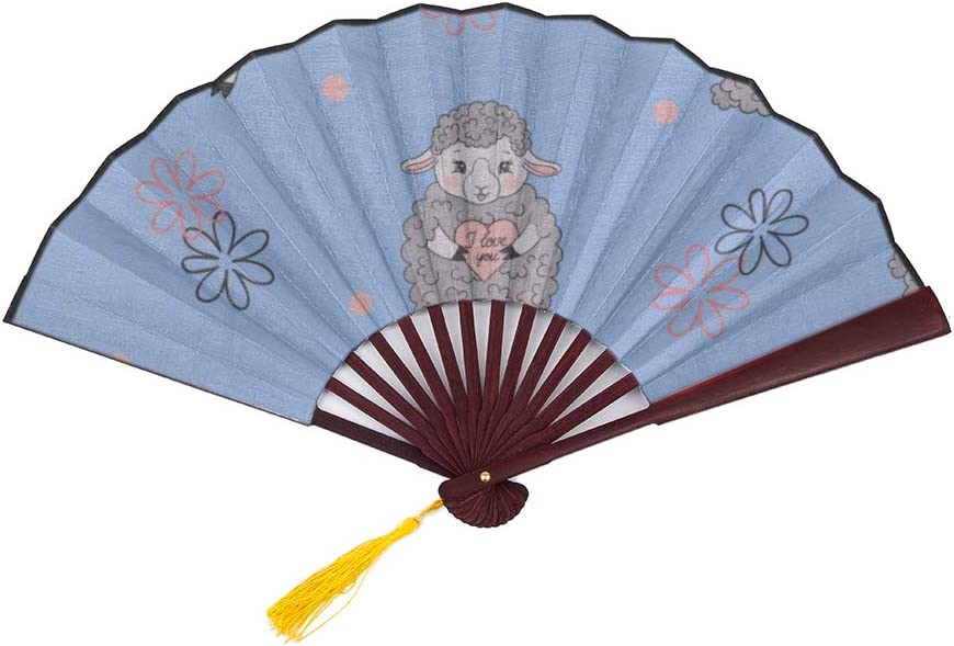 MOVTBA Decorative Folding Fans Cartoon Cute Ani Ranking TOP9 70% OFF Outlet Wild Sheep Funny