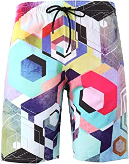 14bb393bfe DIOMOR 2019 Fashion Big and Tall 3D Print Beach Shorts for Men S-6XL Outdoor