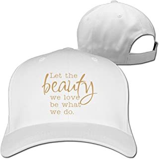 Quote Let The Beauty We Love Be What We Do Golden Wordmark Stretch Fit Cap