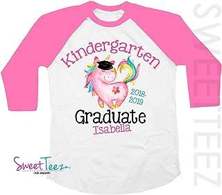 Kindergarten Graduation Shirt Personalized Kindergarten Graduation Shirt Unicorn Shirt For Girls Graduation Gift Pink Shirt