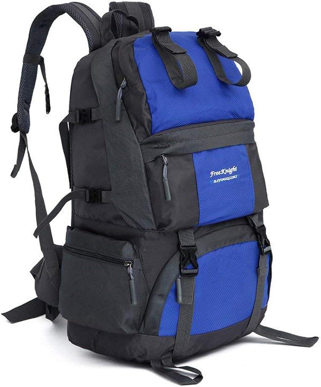 Lounayy Klettert Freien Rucksack Im Wandern Die Stylisch Kampierende Mode Wasserdichte Sporttasche Spielraumrucksack Wandern (Farbe   Blau, Größe   One Größe)